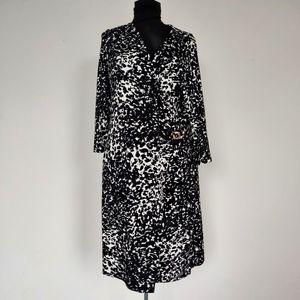 AA Studio Abstract Animal Print Wrap Dress 16